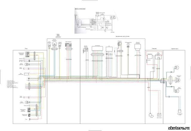 схема электрооборудования скутера stels - Всемирная схемотехника.