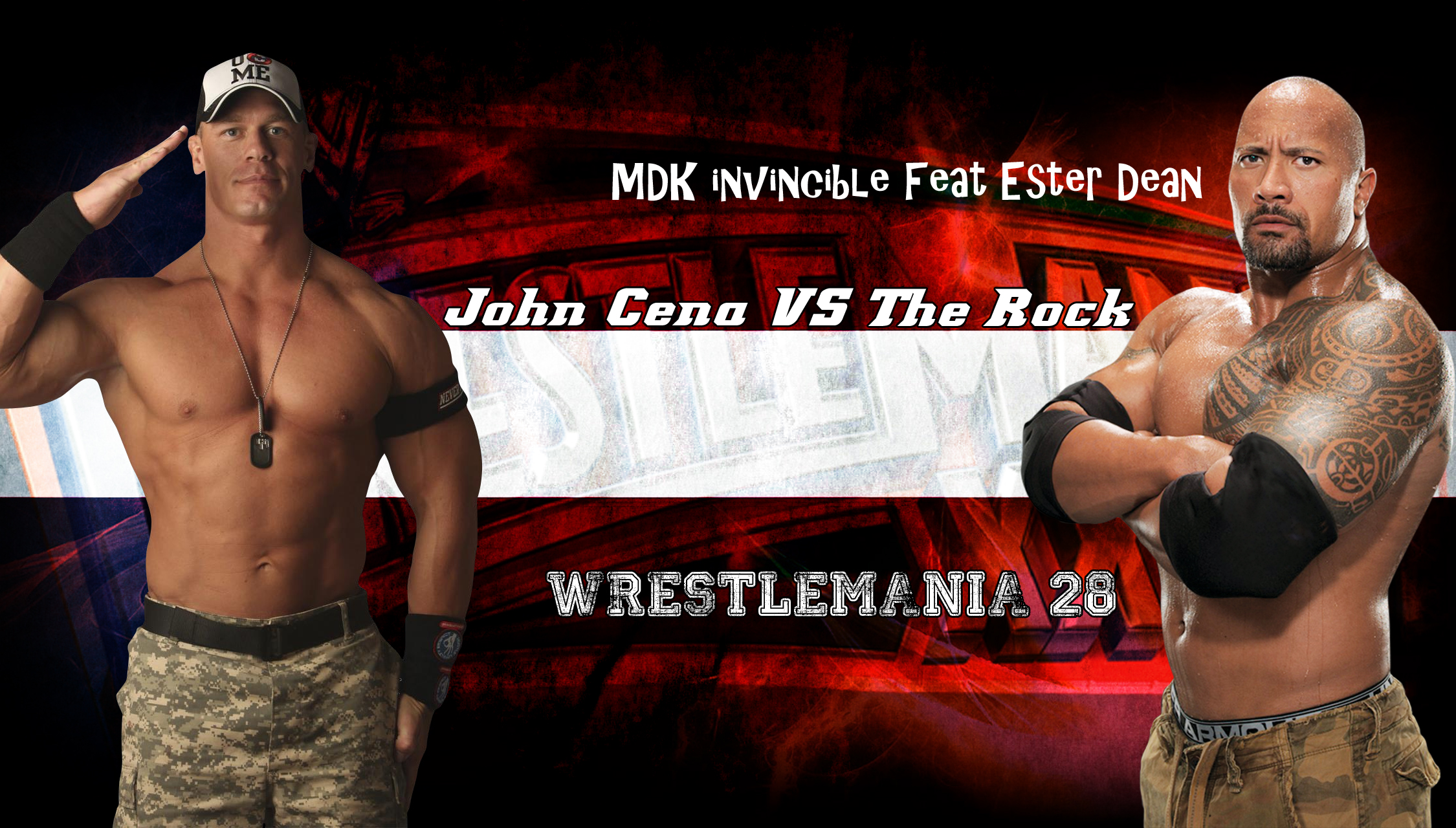 WWE Wrestlemania 28 John Cena vs The Rock  V55cgqwd8av7vfybisdg